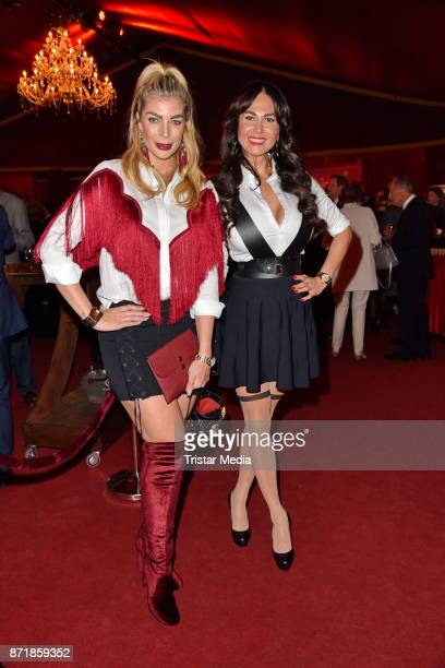 Annika Gassner and Rafaella Nussbaum attend the Palazzo VIP premiere on November 8 2017 in Berlin Germany