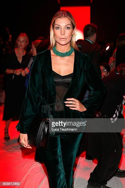 Annika Gassner attends the Anja Gockel show during the Mercedes-Benz Fashion Week Berlin Autumn/Winter 2016 at Brandenburg Gate on January 20, 2016...