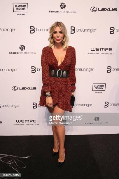 Annika Gassner attends the Breuninger show during Platform Fashion July 2018 at Areal Boehler on July 20 2018 in Duesseldorf Germany