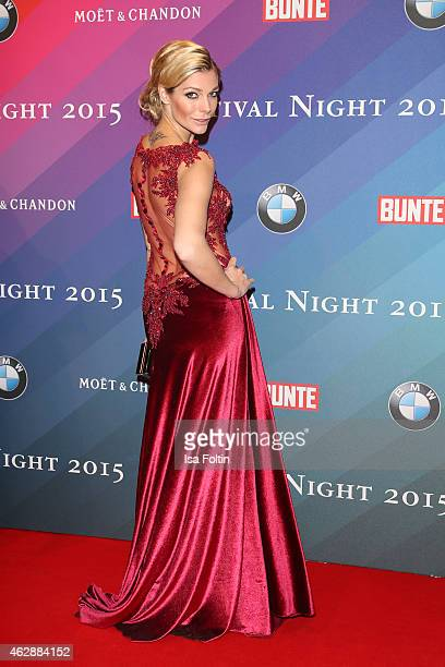Annika Gassner attends the Bunte & BMW Festival Night 2015 on February 06, 2015 in Berlin, Germany.