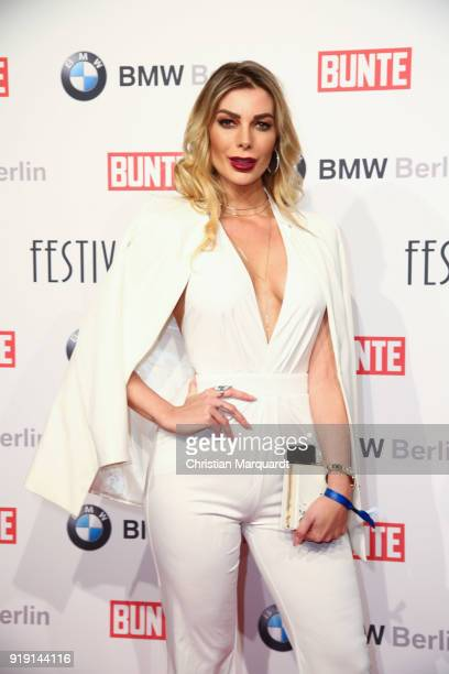 Annika Gassner attends the BUNTE BMW Festival Night on the occasion of the 68th Berlinale International Film Festival Berlin at Restaurant...