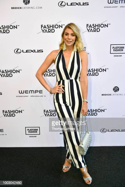 Annika Gassner attends the Fashionyard show during Platform Fashion July 2018 at Areal Boehler on July 21 2018 in Duesseldorf Germany