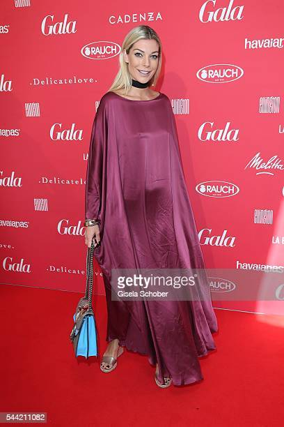 Annika Gassner attends the 'Gala' fashion brunch during the Mercedes-Benz Fashion Week Berlin Spring/Summer 2017 at Ellington Hotel on January 22,...