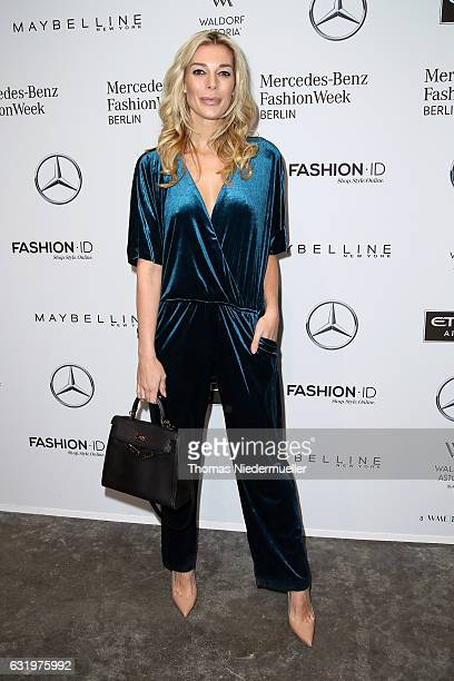 Annika Gassner attends the Maisonnoee show during the Mercedes-Benz Fashion Week Berlin A/W 2017 at Kaufhaus Jandorf on January 18, 2017 in Berlin,...