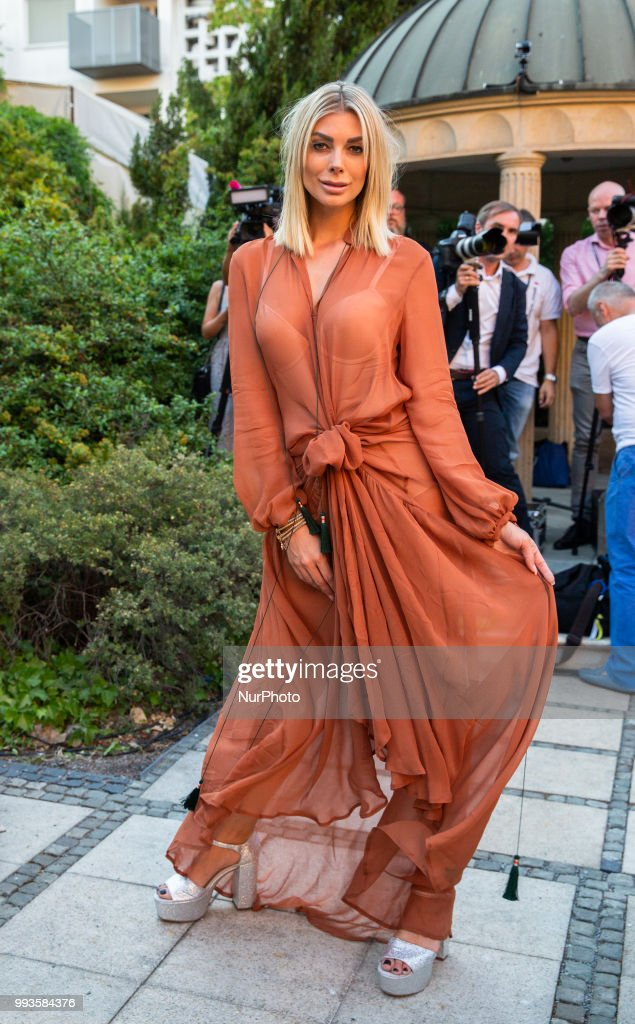 Annika Gassner attends the Marcel Ostertag Fashion Show during the Berlin Fashion Week Spring/Summer 2019 in Berlin, Germany on July 4, 2018.