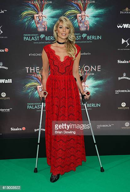 Annika Gassner attends 'THE ONE Grand Show' premiere at FriedrichstadtPalast on October 6 2016 in Berlin Germany