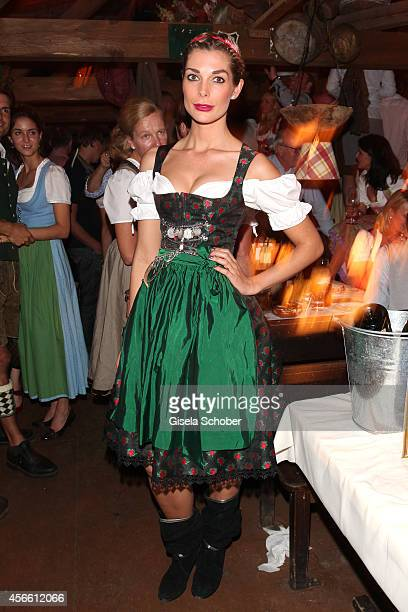 Annika Gassner during Oktoberfest at Kaeferzelt/Theresienwiese on October 3, 2014 in Munich, Germany.