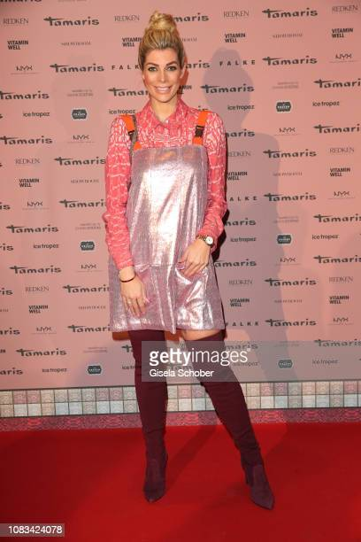 Annika Gassner during the Marcel Ostertag show as part of the Berlin Fashion Week Autumn/Winter 2019 at Westin Grand Hotel on January 16, 2019 in...