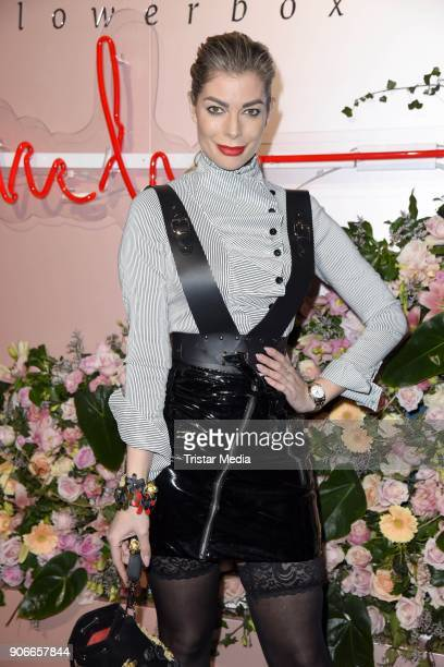Annika Gassner during the Marina Hoermanseder Defile during 'Der Berliner Salon' AW 18/19 at Von Greifswald on January 18 2018 in Berlin Germany