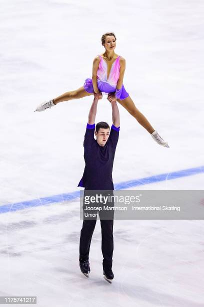 Annika Hocke and Robert Kunkel of Germany compete in the Junior Pairs Short Program during the ISU Junior Grand Prix of Figure Skating Baltic Cup at...