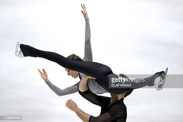 Annika Hocke and Ruben Blommaert from Germany compete during the Challenge Cup Figure Skating event in The Hague on February 23 2019 / Netherlands OUT