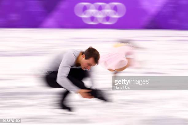 Annika Hocke and Ruben Blommaert of Germany compete during the Pair Skating Free Skating at Gangneung Ice Arena on February 15 2018 in Gangneung...