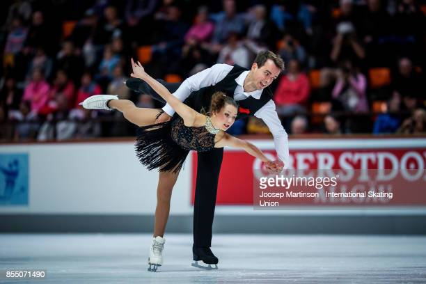 Annika Hocke and Ruben Blommaert of Germany compete in the Pairs Short Program during the Nebelhorn Trophy 2017 at Eissportzentrum on September 28...