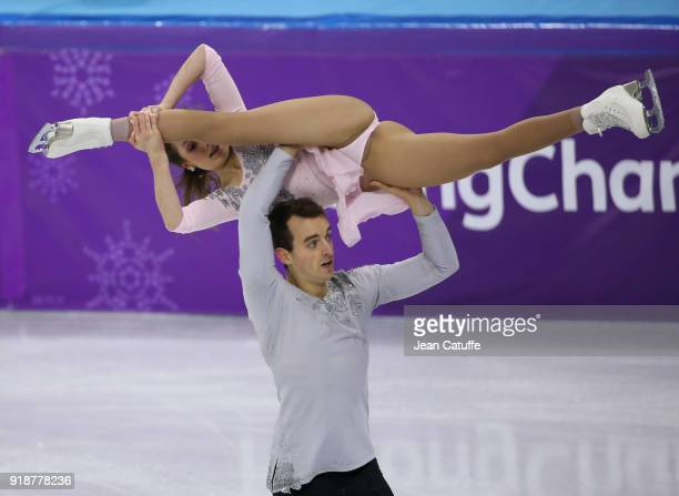 Annika Hocke and Ruben Blommaert of Germany during the Figure Skating Pair Skating Free Program on day six of the PyeongChang 2018 Winter Olympic...