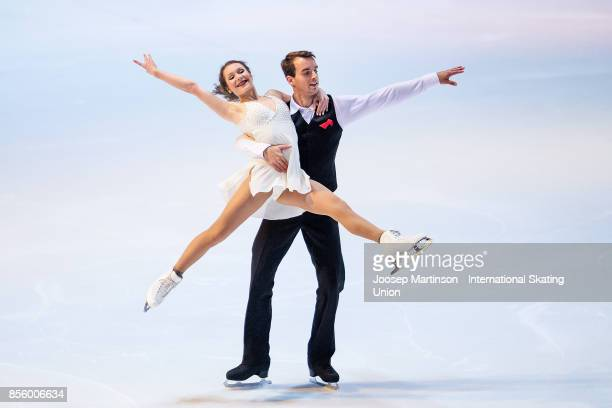 Annika Hocke and Ruben Blommaert of Germany perform in the Gala Exhibition during the Nebelhorn Trophy 2017 at Eissportzentrum on September 30 2017...