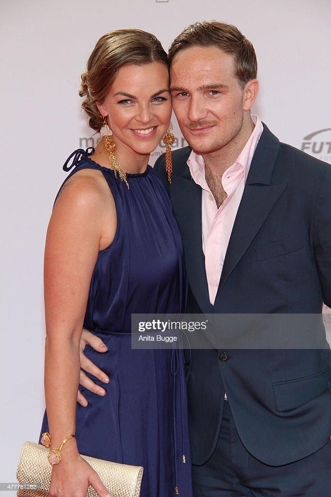 Annika Kipp and Frederic Lau arrive to the German Film Award 2015 Lola (Deutscher Filmpreis) at Messe Berlin on June 19, 2015 in Berlin, Germany.