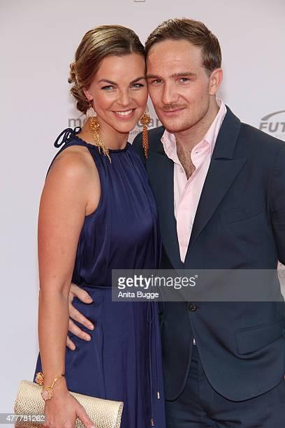 Annika Kipp and Frederic Lau arrive to the German Film Award 2015 Lola at Messe Berlin on June 19 2015 in Berlin Germany