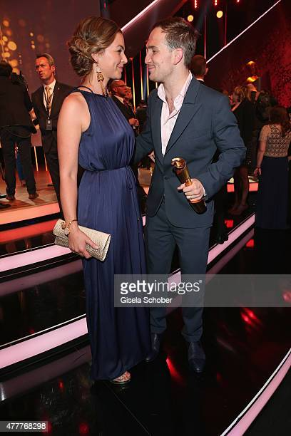 Annika Kipp and Frederick Lau attend the German Film Award 2015 Lola party at Palais am Funkturm on June 19 2015 in Berlin Germany