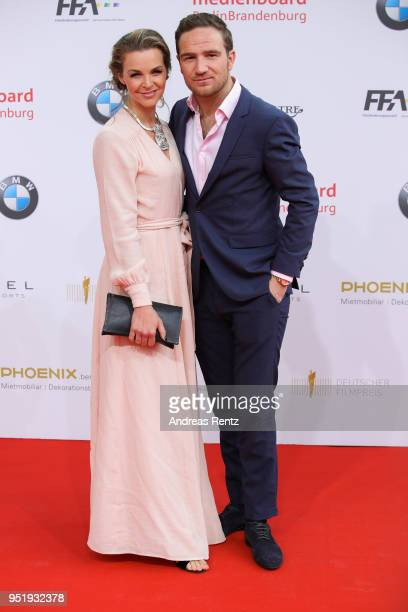 Annika Kipp and Frederick Lau attend the Lola German Film Award red carpet at Messe Berlin on April 27 2018 in Berlin Germany