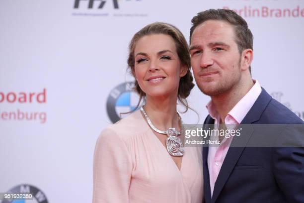 Annika Kipp and Frederick Lau attend the Lola German Film Award red carpet at Messe Berlin on April 27 2018 in Berlin Germany