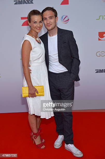 Annika Kipp and Frederick Lau attend the program presentation of the television channel ProSiebenSat1 at Hamburg Cruise Centre Altona on July 7 2015...