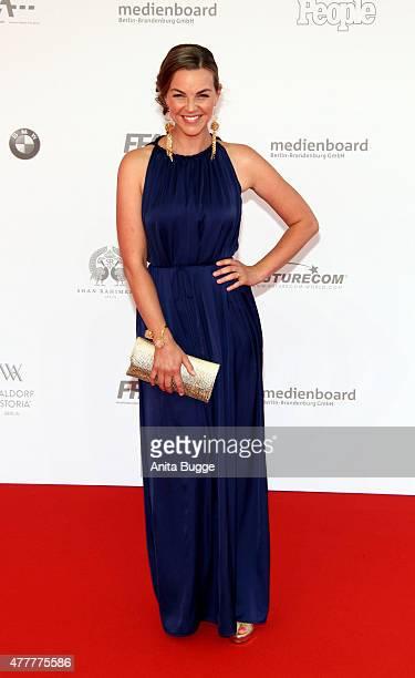 Annika Kipp arrives to the German Film Award 2015 Lola at Messe Berlin on June 19 2015 in Berlin Germany