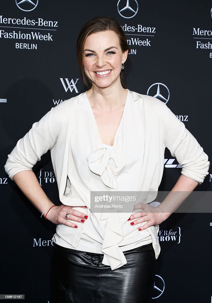 Annika Kipp attends Marcel Ostertag Autumn/Winter 2013/14 fashion show during Mercedes-Benz Fashion Week Berlin at Brandenburg Gate on January 17, 2013 in Berlin, Germany.
