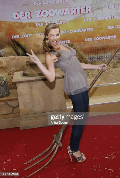 Annika Kipp attends the Premiere of 'Zookeeper' at CineStar movie theater on June 20 2011 in Berlin Germany