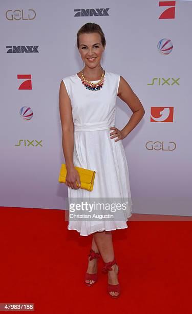 Annika Kipp attends the program presentation of the television channel ProSiebenSat1 at Hamburg Cruise Centre Altona on July 7 2015 in Hamburg Germany