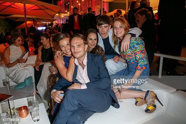 Annika Kipp Frederic Lau Saralisa Volm Kilian Kerner and Jella Haase attend the German Film Award 2015 Lola party at Palais am Funkturm on June 19...