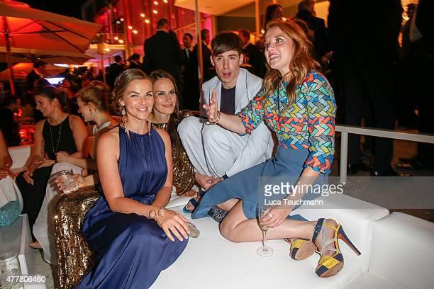 Annika Kipp Saralisa Volm Kilian Kerner and Jella Haase attend the German Film Award 2015 Lola party at Palais am Funkturm on June 19 2015 in Berlin...