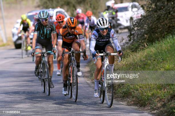 Annika Langvad of Denmark and Boels Dolmans Cyclingteam / Ruth Winder of The United States and Team Trek-Segafredo / during the 5th Strade Bianche...