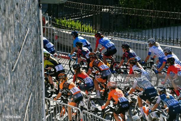 Annika Langvad of Denmark and Team Boels Dolmans Cyclingteam / Deborah Paine of New Zealand and Team Cogeas Mettler Look / Chantal Blaak of The...