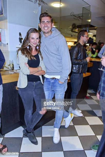 Annika Lau and Christian Wackert attend the Loste TradiFrance Opening at KaDeWe on September 13 2018 in Berlin Germany