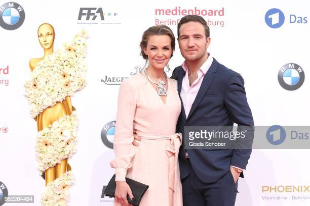 Annika Lau and her husband Frederick Lau and during the Lola German Film Award red carpet at Messe Berlin on April 27 2018 in Berlin Germany