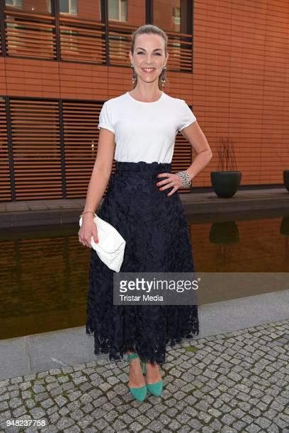 Annika Lau arrives for the Jupiter Award 2018 at Hyatt Hotel on April 18 2018 in Berlin Germany