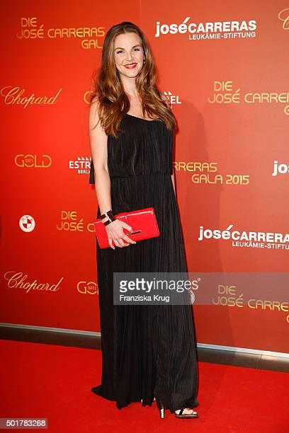Annika Lau clutch bracelet by Porsche Design Woman attends the 21th Annual Jose Carreras Gala at Hotel Estrel on December 17 2015 in Berlin Germany