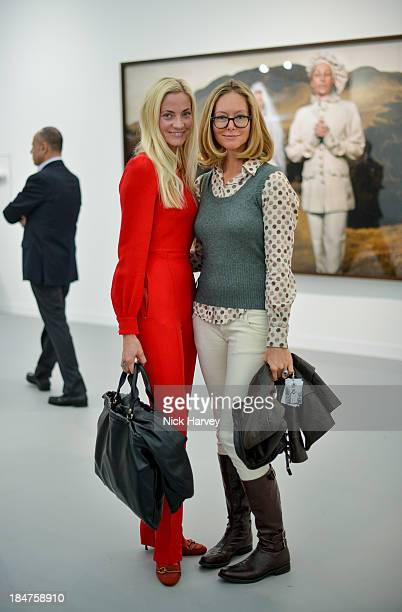 Annika Murjahn and Gunn Haglund attend the private view for Frieze on October 16 2013 in London England