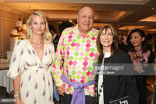 Annika Murjahn Jean Pigozzi and Cheryl Cohen attend the launch of Fortnum's X Frank at Fortnum Mason on September 12 2016 in London United Kingdom...