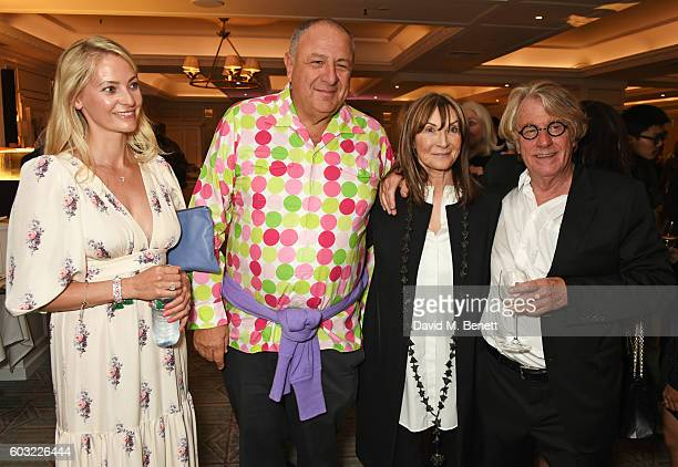 Annika Murjahn Jean Pigozzi Cheryl Cohen and Frank Cohen attend the launch of Fortnum's X Frank at Fortnum Mason on September 12 2016 in London...