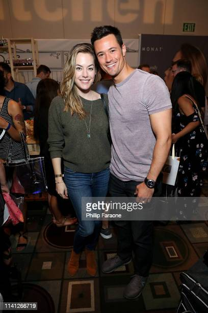 Annika Noelle and Matt Atkinson attend the Daytime Emmy Awards PreAwards Networking Party/Gift Lounge at Pasadena Convention Center on May 4 2019 in...