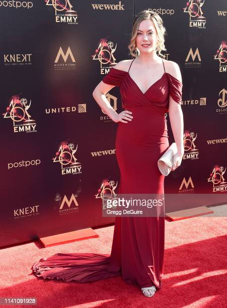 Annika Noelle arrives at the 46th Annual Daytime Creative Arts Emmy Awards at Pasadena Civic Center on May 3 2019 in Pasadena California