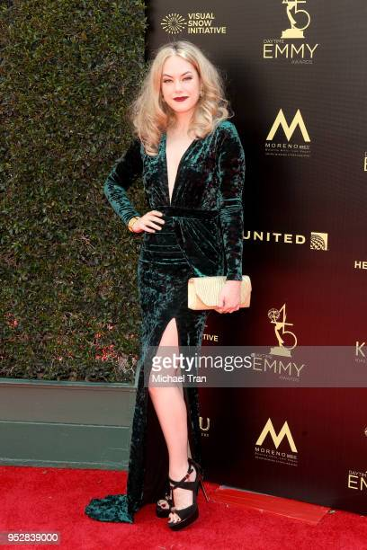 Annika Noelle attends the 45th annual Daytime Emmy Awards at Pasadena Civic Auditorium on April 29 2018 in Pasadena California
