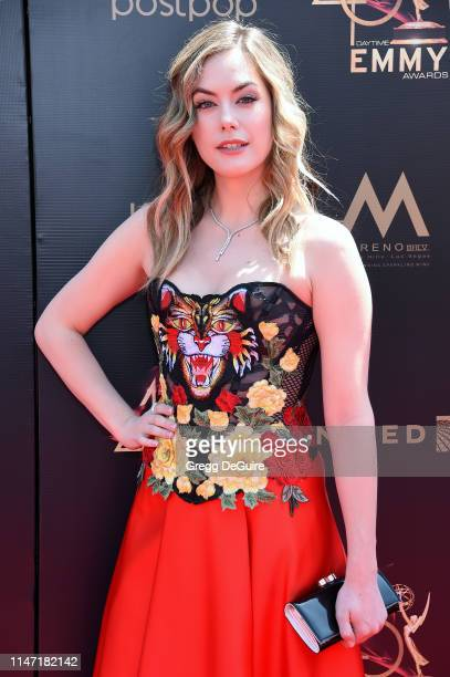 Annika Noelle attends the 46th annual Daytime Emmy Awards at Pasadena Civic Center on May 05 2019 in Pasadena California