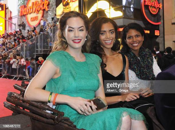Annika Noelle Kiara Barnes and Karla Mosley of 'The Bold The Beautiful' participate in the 87th Annual Hollywood Christmas Parade on November 25 2018...
