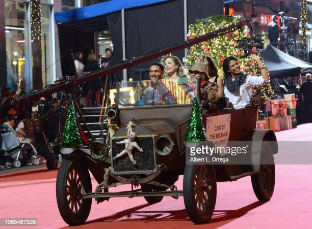 Annika Noelle Kiara Barnes Karla Mosley and Adain Bradley of 'The Bold The Beautiful' participate in the 87th Annual Hollywood Christmas Parade on...