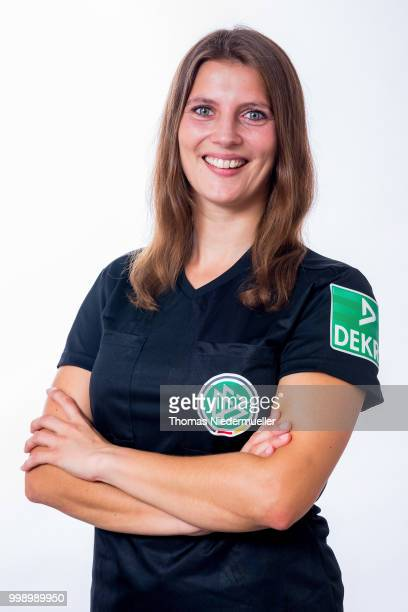 Annika Paszehr poses during a portrait session at the Annual Women's Referee Course on July 14 2018 in Grunberg Germany