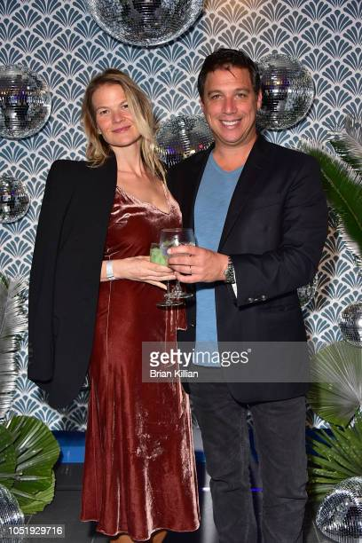 Annika Peyton and James Peyton attend the Manhattan Magazine Men's Event With John David Washington at BMW of Manhattan on October 11 2018 in New...
