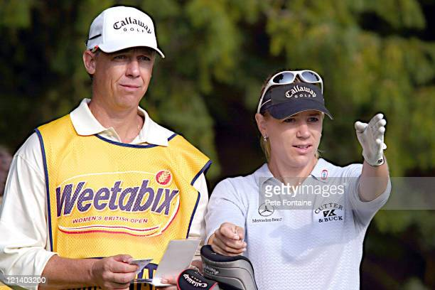 Annika Sorenstam competes during the first round of the Weetabix Women's British Open at the Sunningdale Golf Club July 29 2004