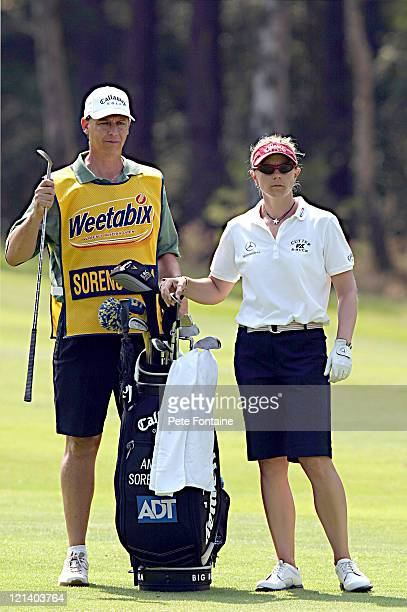 Annika Sorenstam competes during the third round of the Weetabix Women's British Open at the Sunningdale Golf Club on July 31 2004